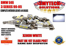 BMW E46 3 SERIES CONVERTIBLE 99-05 COMPLETE x8 LED BULBS INTERIOR FULL SET