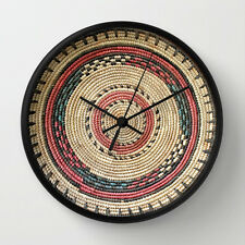 EXCLUSIVE AFRICAN HAUSA BASKET DESIGN WALL CLOCK / Unique Functional Art