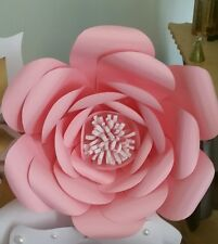 Paper flower Party,wedding backdrop,decor w/pompom and Pearl middle,size Medium