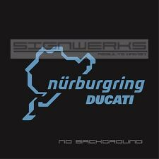 Ducati Nurburgring Decal Sticker logo emblem Moto GP Bike Racing Italy Pair