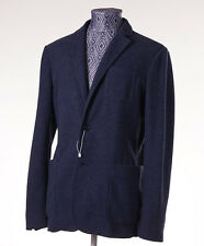 New Z ZEGNA Unstructured Blue Wool-Blend Jersey Blazer Slim 42 R Sport Coat