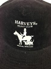 VTG Harveys Hunt Club Bristol England Corduroy Hat Cap Snapback Horse Hounds