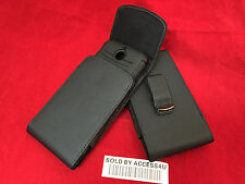 LEATHER HOLSTER BELT CLIP POUCH FOR SAMSUNG GALAXY NOTE 4 EXTENDED BATTERY CASE