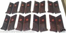 RUGER MKII GRIPS COCOBOLO ROOT WOOD DOUBLE DIAMOND CHECKING & MEDALLIONS 2-XX