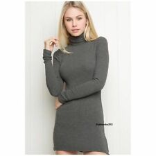 brandy melville gray ribbed bodycon adelie turtleneck dress NWT