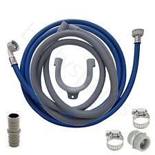 UNIVERSAL  Washing Machine Fill Water & Waste Drain Hose Extension Kit 2.5m