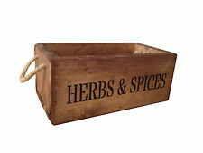 Crates4You Personalised Vintage Style Wooden Herb & Spice Crate Box