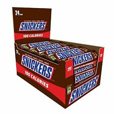 SNICKERS 100 Calories Chocolate Candy Bar 0.76 oz Bars - 24 ct. Box
