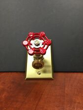 VINTAGE STEAMPUNK BOILER DRAIN LIGHT SWITCH,  NOW YOU CAN STEAMPUNK YOUR WALL