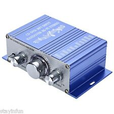 Portable Mini 2 CH Hi-Fi Stereo Output Power Audio Amplifier MP 3 Car Motorcycle