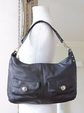 Ri2K John Richmond Handbag Beautiful Black Leather Hobo Shoulder Bag
