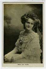 c 1910 British Victorian Edwardian Theater LILY ELSIE Actress photo postcard