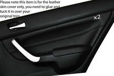 BLACK STITCHING 2X REAR DOOR CARD TRIM SKIN COVER FITS HONDA ACCORD 2003-2008