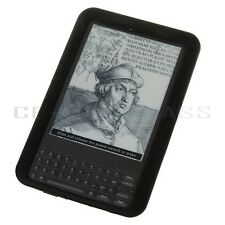 New Black Silicone Skin Case Gel Cover For Amazon Kindle Keyboard 3G