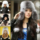 100% Real Genuine Fox Fur Hat Cap Headwear Women Warm Winter Bomber Ushanka