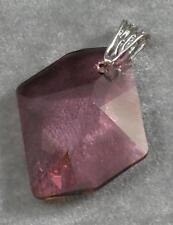 Avilagems Cosmic Swarovski Crystal Antique Pink .925 Sterling Silver Pendant
