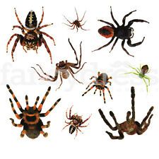 Large Spiders Tattoo Halloween Temporary Body Art Gothic Fancy Dress T47