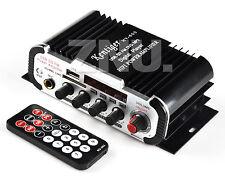 12V 2 40W Noir 2 Canaux MIC FM MP3 Audio Amp Amplificateur Pour Bateau Maison