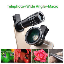 3 in 1 Wide Angle+Telephoto+12.5X Macro HD Phone Lens Kit For iPhone7/6S Samsung