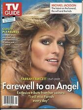 FARRAH FAWCETT TV GUIDE JULY 2009 MICHAEL JACKSON FAREWELL TO AN ANGEL NICE NML