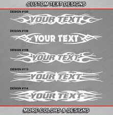 Fits HONDA CIVIC Custom Windshield Tribal Flame Text Decal Vinyl Sticker Graphic