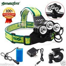 12000Lm 3x CREE XML T6 LED Fahrradlampe Stirnlampe 8,4 V 6400 mAh Akku+Ladegerät