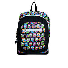 Owl Bag Ladies School Backpack Rucksack Large Womens Retro Style Black