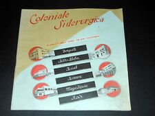 Colonie Africa Brochure Coloniale Siderurgica 1^ed. 1940 ca