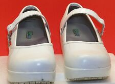 SR MAX OCCUPATIONAL MARY JANES WHITE LEATHER 7 1/2  SLIP RESISTANT