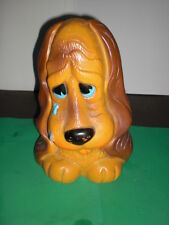 Vintage Russ Berrie1973  Crying Puppy Dog Plastic Bank 10 Inches Tall - Too Cute