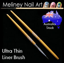 Nail Art Liner Brush - Gold Metal Handle Cap Drawing painting pen Detail Thin