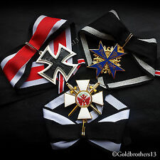 German Medals Set Knights Cross of Iron cross , Pour Le Merite & Red Eagle Repro