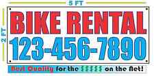 BIKE RENTAL w CUSTOM PHONE # Banner Sign NEW Larger Size Best Quality for The $$