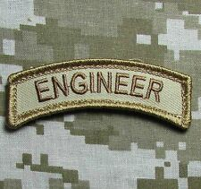 ENGINEER TAB TACTICAL USA ARMY VELCRO® BRAND FASTENER DESERT MORALE BADGE PATCH
