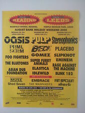 OASIS Green Day Primal Scream T in the Park  2002 Poster size Press ADVERT 14x12