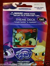 THEME DECK -FOIL APPLEJACK & PLAIN TWILIGHT SPARKLE - MY LITTLE PONY CARD GAME