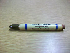 Rare Advertising Bullet Pencil Neville Company McCormick Farm Plymouth Chrysler