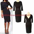 NEW OPEN BACK V business Career WEAR work SHEATH Shift Pencil A wiggle DRESS