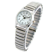 New Silver Geneva Small Size Stretch Band Women's Watch