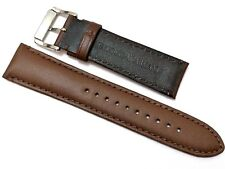22MM GENUINE LEATHER BROWN WATCH STRAP/BAND FOR EMPORIO ARMANI