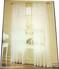 "NEW Voile Rod Pocket 108"" Window Panel Ivory"