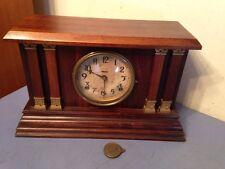 Antique Ingraham Mantle Clock Nice Unusual Case
