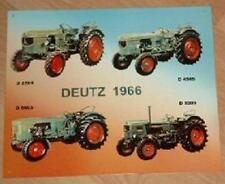 Älteres Blechschild Oldtimer Traktor Deutz Modellreihe 1966 gebraucht used