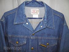 Vintage Key Saddle King Country Western Denim Jean Cowboy Ranch Truckers Jacket