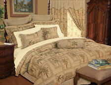 9 Piece Full Tapestry Palm Bedding Comforter Set