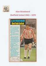 ALAN WOODWARD SHEFFIELD UNITED 1963-1979 ORIGINAL HAND SIGNED PICTURE CUTTING