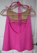 Lululemon Tank Top Hot Pink 8 small strappy back sport gym hot yoga exercise sm