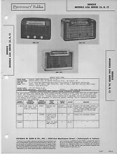 1947 BENDIX 636 RADIO SERVICE MANUAL photofact schematic series A B C diagram
