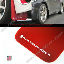 RALLY ARMOR UR MUD FLAPS FOR 2012-2015 VELOSTER TURBO & NON-TURBO RED / WHITE
