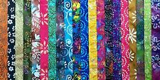 "(20)  2.5"" Quilters Batik Jelly Roll Strips ( No Duplicates ) BB"